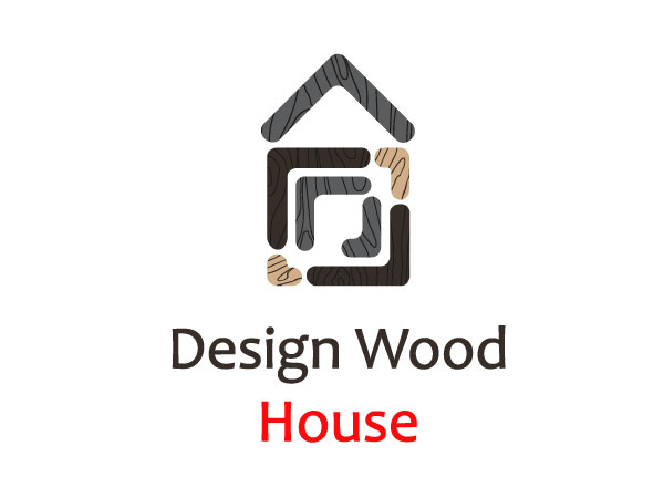 logo design wood house
